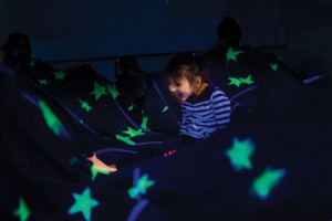 Sarah McDermott sits in a circle with other students at Central Avenue Preschool in Naugatuck inside the school's multi-sensory room. Experts say the therapy aims to calm children and allow them to better focus. –REPUBLICAN-AMERICAN